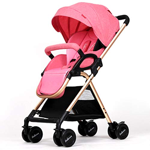 GXH- High Landscape Folding Trolley, Baby Stroller Foldable with Aluminum Alloy for Easy Carrying, net Weight 5.8kg