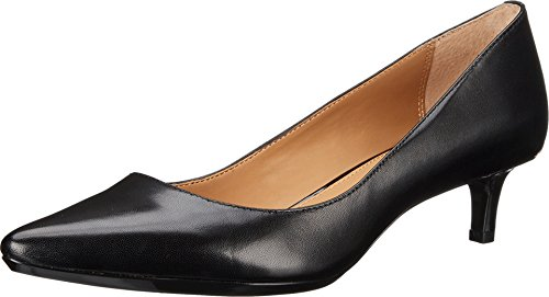 Calvin Klein Women's Gabrianna Pump, Black Leather, 8 Medium us -