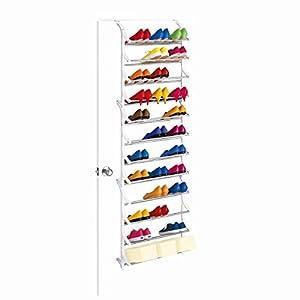 36 Pair OverDoor Shoe Rack, White Metal, Over The Door Hook   Quality Shoe  Rack / Shoe Organizer. Great Shoe Storage Solutions, Shoe Rack For Shoes,  ...