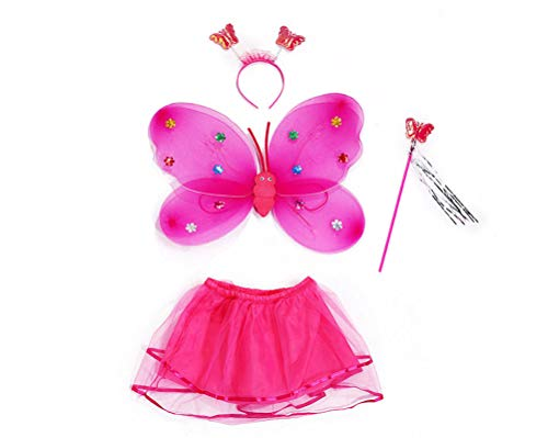 wlsomegoo Children's Halloween Performance Dress Up Glowing Shine Butterfly Wings -
