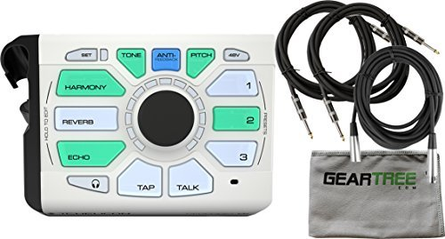 TC Helicon 996367005 Perform-VK Vocal processor with XLR cable, Instrument Cables and Zorro Sounds Cloth