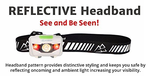 Running Headlamp LED Flashlight with Reflective Band - Bright, Light, Comfortable, Waterproof, 4 Light modes with Red; For Runners, Hiking, Camping, Hunting, Fishing, Dog Walking, Work, DIY by BoldBrite (Image #4)