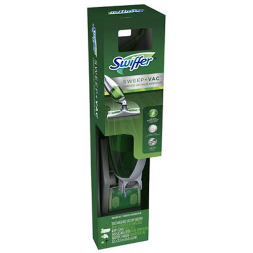 Procter & Gamble 92704 Swiffer Cordless Rechargeable Sweep and Vacuum, Pack of 1, Green and Gray