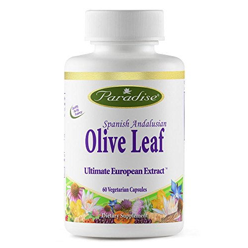 Paradise Herbs Olive Leaf Vegetarian Capsules, 120 Count (Packaging may ()