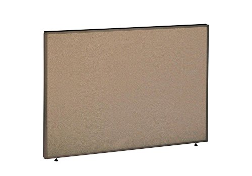 Tan Fabric Taupe Trim Panels - Panel 60W x 42H Dimensions: 60