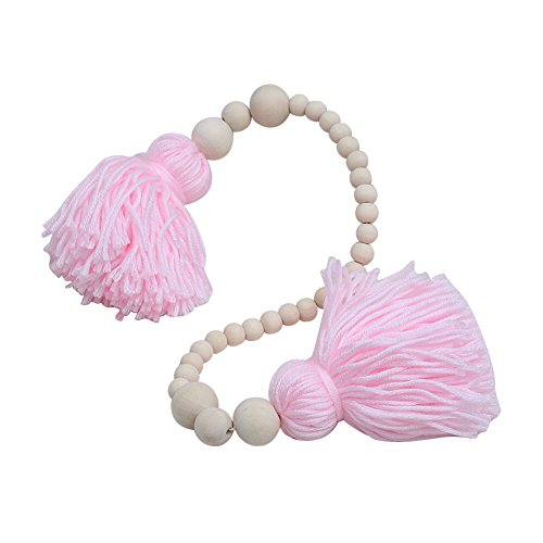 Wooden Bead Tassels Kids Baby Nursery Room Decor Wedding Ornament Wall Hangings