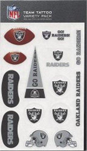 Rico Industries NFL Oakland Raiders Tattoo Variety Pack]()