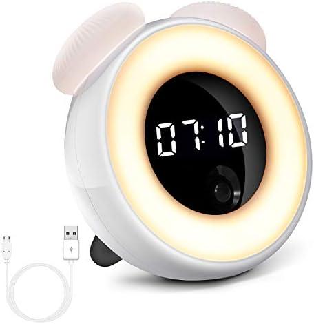 vosov Alarm Clock for Smart Induction Endless Lighting Cartoon Electronic Digital Clock LED Night Light Wake up Clock Prompt Sleep.