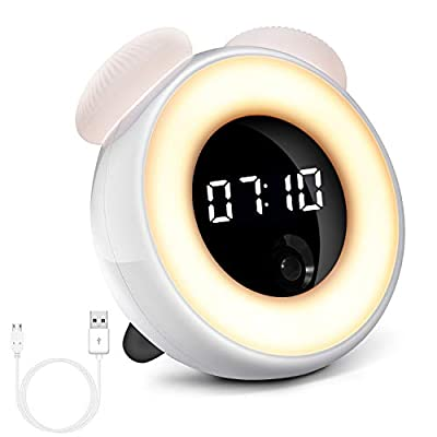 vosov Alarm Clock for Kids Teenage Women Sleeping,Body Recognition Electric Digital Clock,Smart LED Waken up Clock for Bedside - The body recognition:the time will be displayed automatically when you are present and be turned off automaticaly when you leave. A touch sensing:a gentle touch is enough to turn on the light ,the light will be off automatically following your body movememts,It will stay on when you keep moving and will shut automatically when you go sleep. Adjustable brightness settings:a bedside lamp to protect your eyes.It is the best choice to take care of your baby in the dark night. - clocks, bedroom-decor, bedroom - 41OQOsakBPL. SS400  -