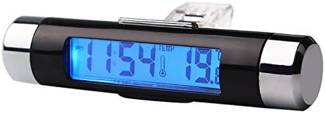Holdream - Reloj digital para coche (pantalla LCD 2 en 1 con retroiluminación azul)