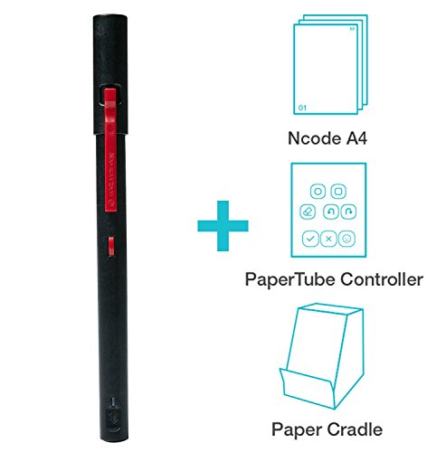 NeoLab Convergence Neopen M1 Smartpen for iOS, Android, Smartphones, Tablets, and Windows - PaperTube Video Creation Kit Bundle - Black