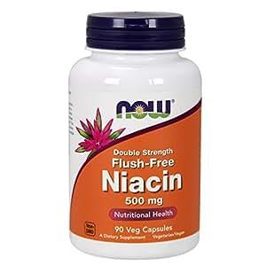NOW Flush-Free Niacin 500 mg,90 Veg Capsules