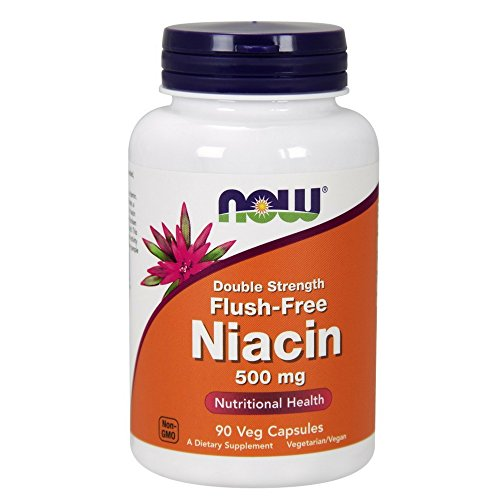 NOW Flush-Free Niacin 500 mg,90 Veg Capsules