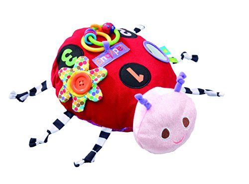 Eric Carle Ladybug - The World of Eric Carle, The Very Hungry Caterpillar Large Plush Developmental Ladybug, 12