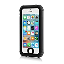 [New Version] Update iPhone 5S Waterproof Case, Meritcase iPhone SE/5S/5 Waterproof Shock-Resistant Dirtproof Snowproof Case with Vehicle-Mounted Design(Black)