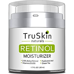TruSkin RETINOL Cream MOISTURIZER for Face and Eye Area, Best for Wrinkles, Fine Lines - Vitamin A, E, B5, Hyaluronic Acid, Organic Jojoba Oil, Green Tea. 50ml