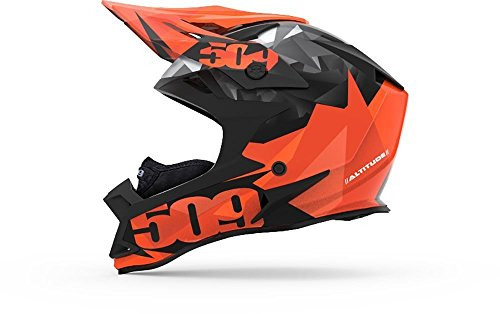 509 Altitude Helmet - Orange Triangles with Fidlock / (Focus Off Road Helmet)