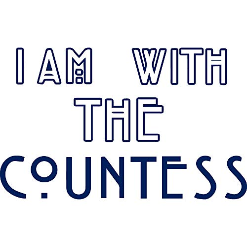 (NBFU DECALS I AM with The Countess (Navy Blue) (Set of 2) Premium Waterproof Vinyl Decal Stickers for Laptop Phone Accessory Helmet CAR Window Bumper Mug Tuber Cup Door Wall Decoration)