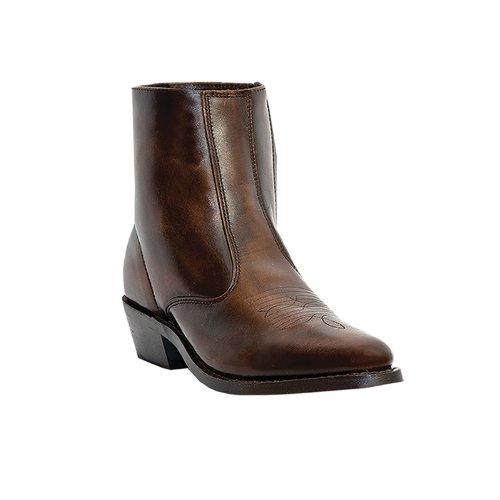 "Laredo Men's 7"" Spanish Tan Leather Side Zipper Western B..."