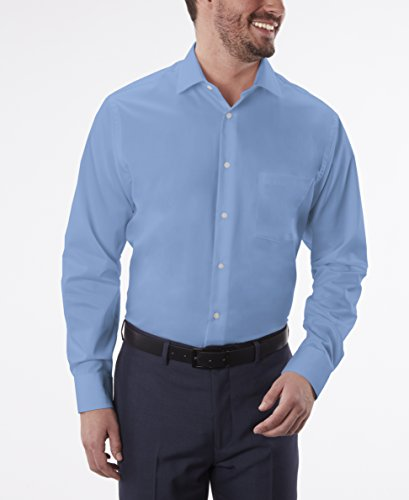 Geoffrey Beene Men's Regular Fit Sateen Solid Dress Shirt
