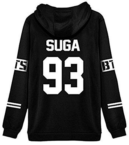 Pullover Sudaderas Tops Otoño Hoodies Fans Bts Blanco Shallgood Manga Mujer V Con Bangtan Capucha 95 Outwear Larga Suéter Encapuchado Capa Moda 5YOqO6n4