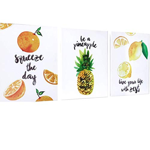 OUTSHINE Wall Decor Canvas Art Prints with Positive Quotes (3 Panel Set) | Hand Drawn and Framed | 12