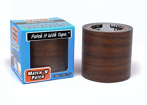 Match 'N Patch Realistic Repair Tape, Dark Walnut (Patch Wood)
