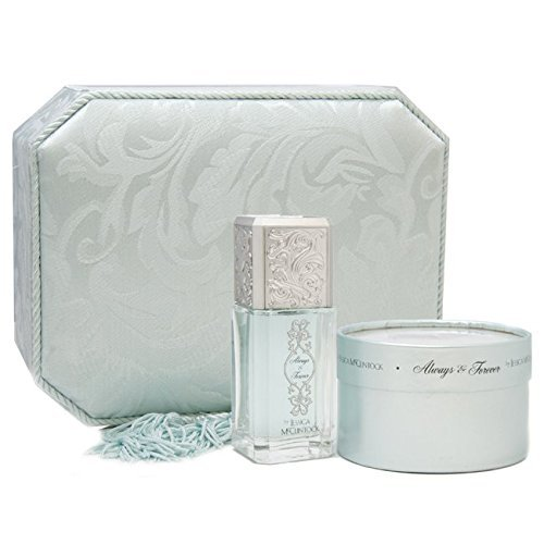 Always & Forever By Jessica Mcclintock For Women. Gift Set ( Eau De Parfum Spray 3.4 Oz / 100 Ml + Shimmer Powder With Puff 2.0 Oz ()