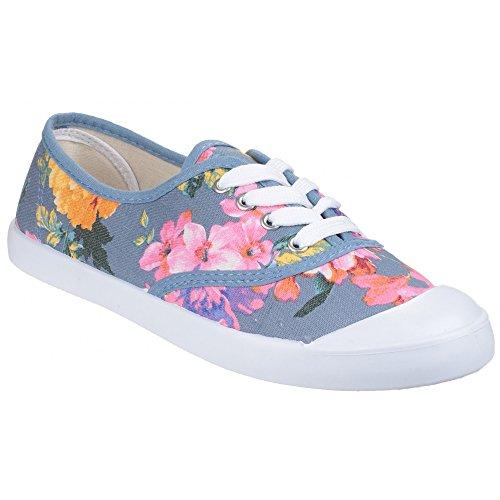 Ellie toile Mesdames Divaz d'été chaussures Floral gdqwnpH