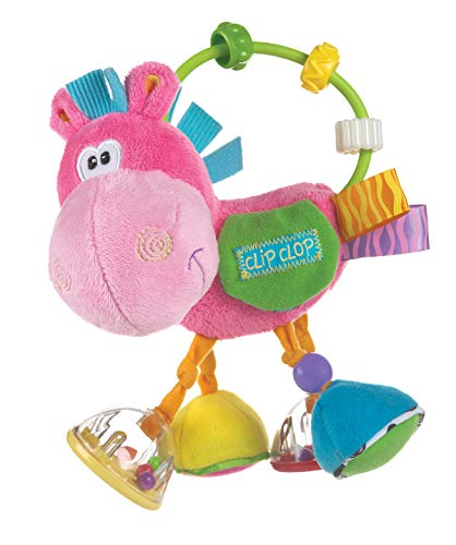 Playgro Toy Box Clopette Activity Rattle Pink for baby infant toddler children 0183303, Playgro is Encouraging Imagination with STEM/STEM for a bright future - Great start for a world of learning