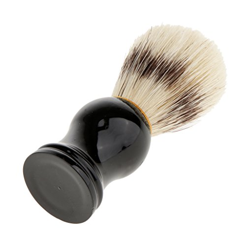 Fityle Soft Bristle Hair Salon Barber Shaver Tool Shaving Brush Facial Neck Beard Hair Cutting Dust Cleansing Cleaner Hair Removal
