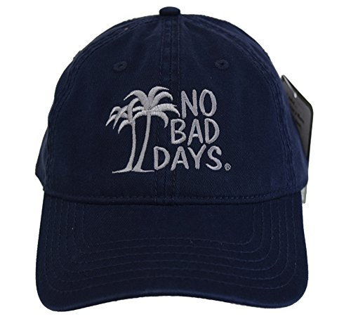 - No Bad Days Garment Washed Superior Combed Cotton Twill Six Panel Cap - Navy