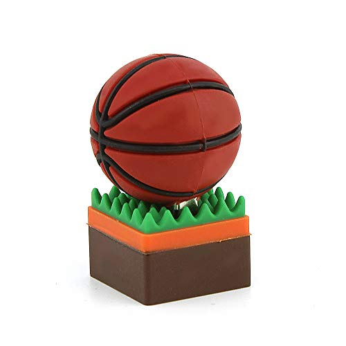 Funnyusb USB Flash Drive USB 3.0 16GB Character Cartoon Sport Ball Shape USB High Speed Flash Disk Pen Drive Disk Memory Stick(Basketball Shape With A Holder) by Funnyusb