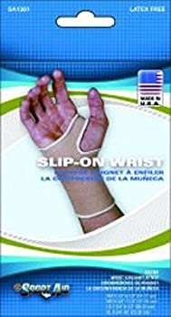 Wrist Support Pull-On Knitted Elastic Left or Right Hand Beige Large #SA1361