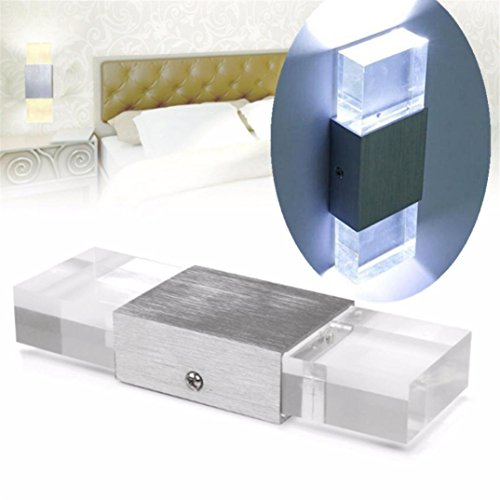 Price comparison product image Iuhan LED Wall Light,  Modern Aluminum Square LED Wall Light Porch Bar Spot Lamp Lighting Home Decor (B)