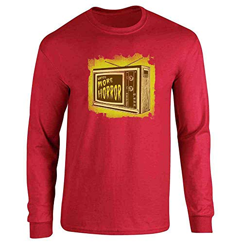 Watch More Horror Retro Halloween Costume Zombie Red S Long Sleeve T-Shirt ()