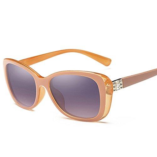 Mujeres Orange UV400 sol Blue Las Wayfarer 55mm Protección de de de polarizadas Color Calle Moda la Clásico Gafas TqxO7nU