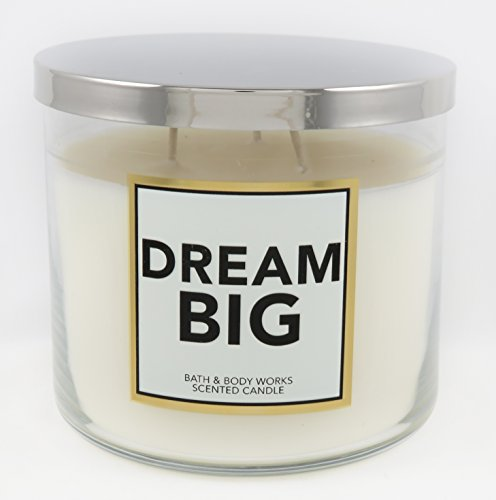 Candle Scented Vanilla Toasted (Bath & Body Works -- DREAM BIG 3 wick candle fragrance vanilla musk, orchids, toasted coconut burns 25-45 hours)