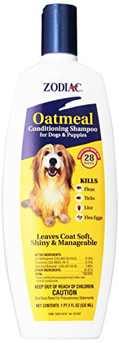 Zodiac Oatmeal Conditioning Shampoo for Dogs & Puppies, 18-ounce (Flea Shampoo Lice)