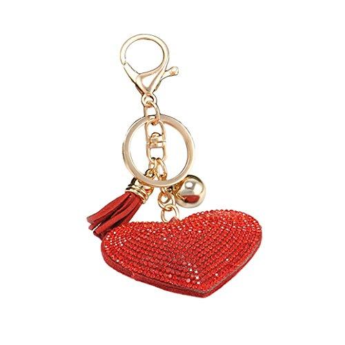 stone Heart Shape Hanging Pendant Handbag Wallet Car Phone Keychain Bag Keyring Key Chain (Heart Shaped Key Pendant)