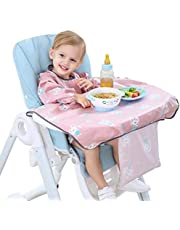 Baby Bibs Long Sleeve Bib Set Stain-Resistant Baby Bib Coverall with Table Cloth