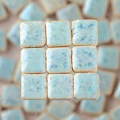Azulejos de Mosaico de cer/ámica esmaltado Mini, Turquesa Pastel MosaicMicros 5/x 5/x 3/mm 10/g