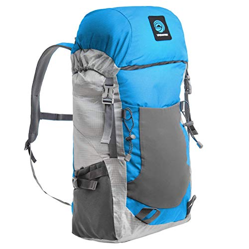WildHorn Outfitters Highpoint Packable Backpack. 30L Daypack for Hiking and Travel. Lightweight Materials, Extremely Portable Storage Size, External Water Bottle Sleeves for Hydration.