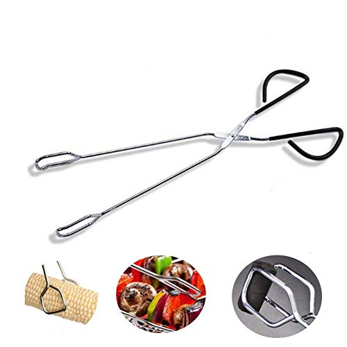 BBQ Food Tongs, oulin's Kitchen Tongs Heavy Duty Stainless Steel Barbecue Food Cooking Tongs (16.14 Inch)