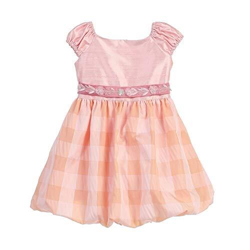 Angels Garment Baby Girls Pink Silk Taffeta Bubble Easter Spring Dress ()