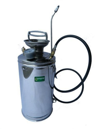 Stainless steel hand-pumped sprayer (1.5-gallon) by Longray