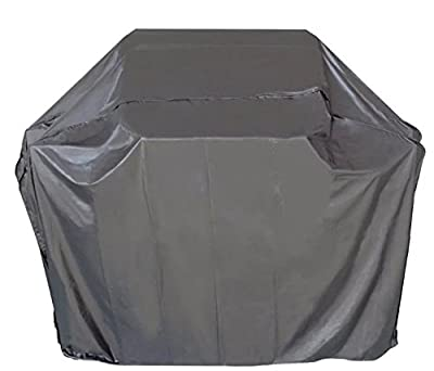 "iCOVER 55""/65"" Heavy Duty water proof patio outdoor black BBQ Barbecue Smoker/Grill Cover G11602/G11603 for weber char-broil Brinkmann Nexgrill by COVER WORLD"