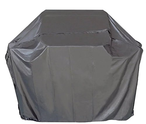 iCOVER 55 Inch Heavy Duty water proof patio outdoor black BBQ Barbecue Smoker/Grill Cover G11602 for weber char-broil Brinkmann Holland and (Brinkmann Smoker Accessories)