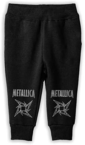 Metallica ロングパンツ スウェットパンツ ユニセックス キッズ 日常 スクール カジュアル 防汗 伸縮性 通気 耐久性 春秋 肌触り 柔らかい 下着 卒業式