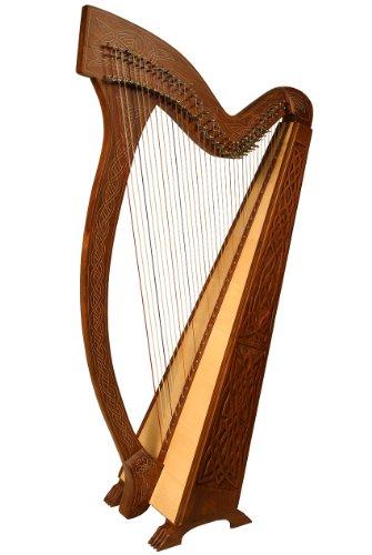 """Roosebeck Meghan Harpâ"""" 36-String Knotwork *Blemished by Roosebeck"""